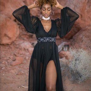 Chiffon goddess dress